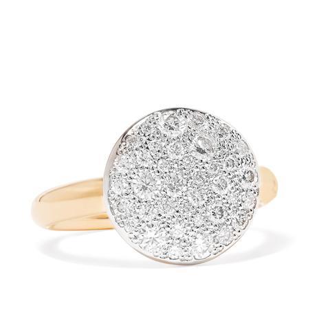 Sabbia 18-Karat Rose Gold Diamond Ring