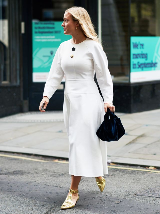 How to Remove Wrinkles From Clothes: Kate Foley in a white dress