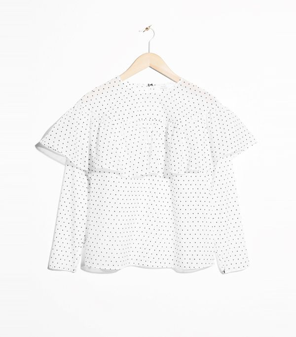 How to Remove Wrinkles From Clothes: & Other Stories Polka-Dot Frill Blouse