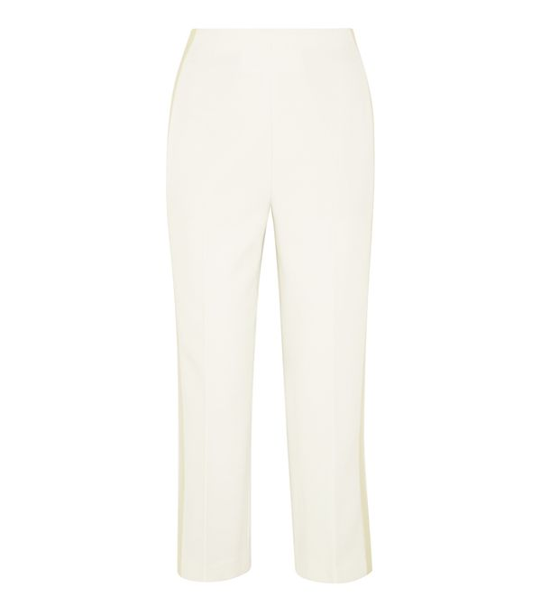 How to Remove Wrinkles From Clothes: 3.1 Phillip Lim Satin-Trimmed Crepe Tapered Pants