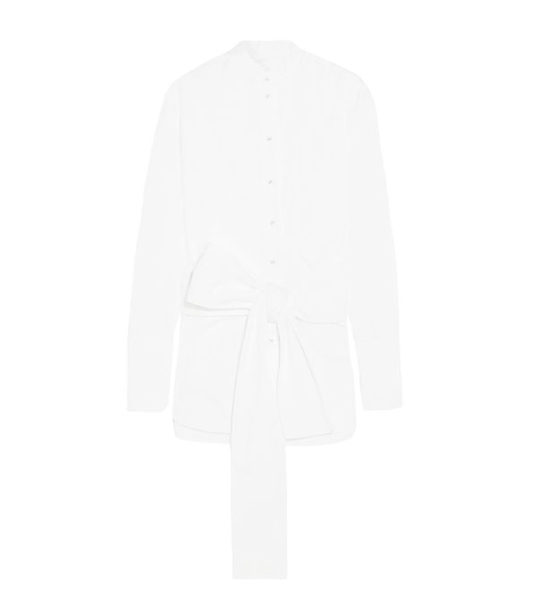 How to Remove Wrinkles From Clothes: Victoria, Victoria Beckham Tie-Front Cotton-Poplin Shirt
