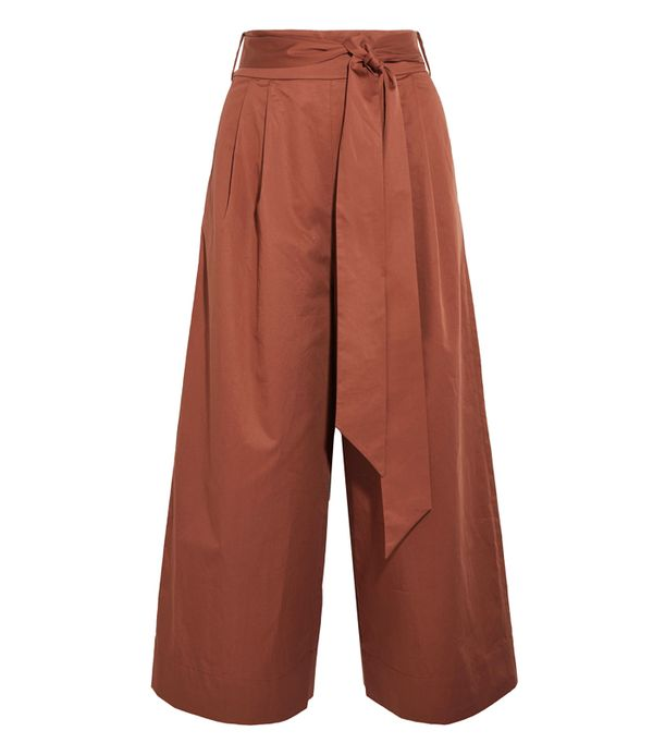 How to Remove Wrinkles From Clothes: Tibi Cotton-Poplin Culottes