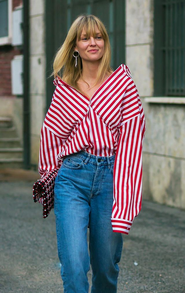 Celebrity styling tricks: deconstructed shirting