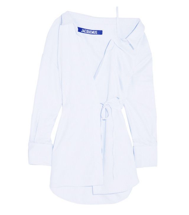 celebrity styling tricks: Jacquemus shirt