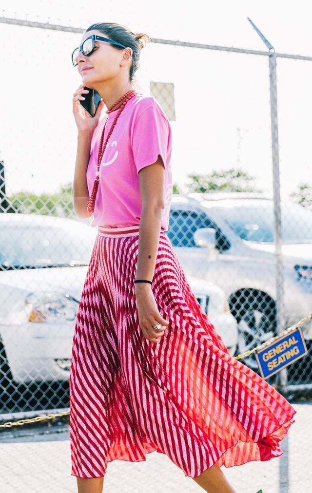 Celebrity styling tricks: Pink and red trend