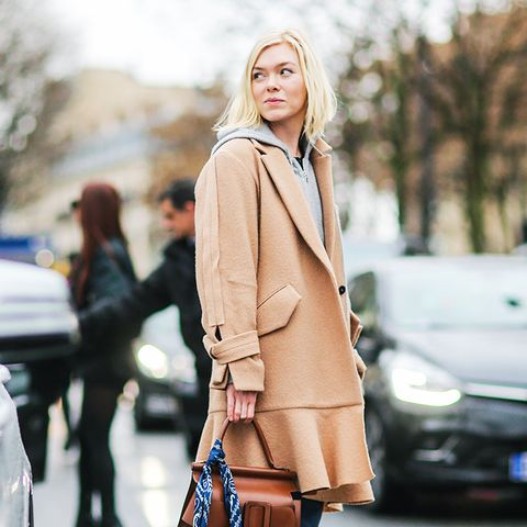 how to wear camel clothing: ankle boots and jeans