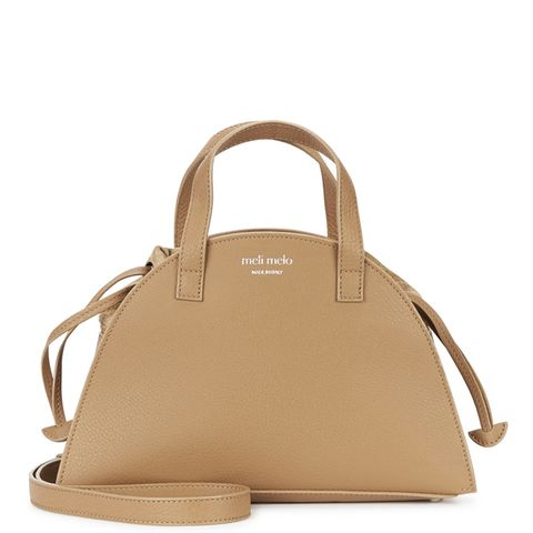 Giada Mini Caramel Leather Tote