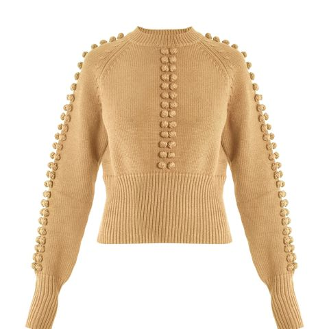 Pompom-Embellished Sweater