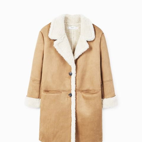 Faux Shearling Lining Coat