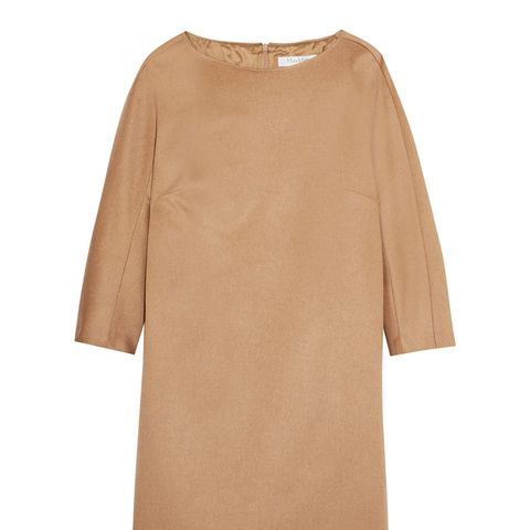 Camel Hair Mini Dress