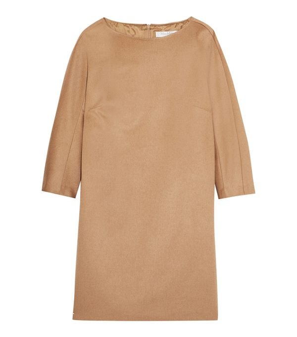 how to wear camel clothing: Max Mara Camel Hair Mini Dress