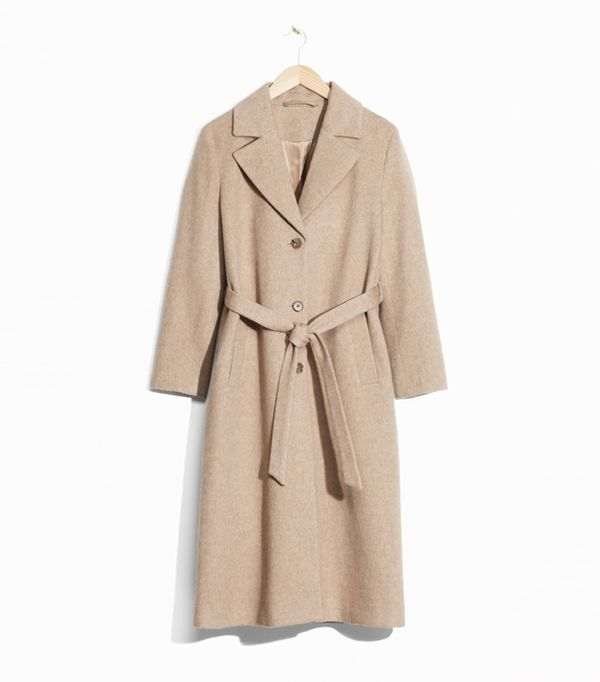 how to wear camel clothing: & Other Stories Loose Alpaca Blend Coat
