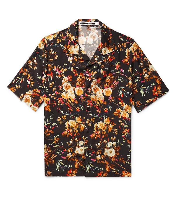 male bloggers: McQ Alexander McQueen Billy Camp-Collar Printed Twill Shirt