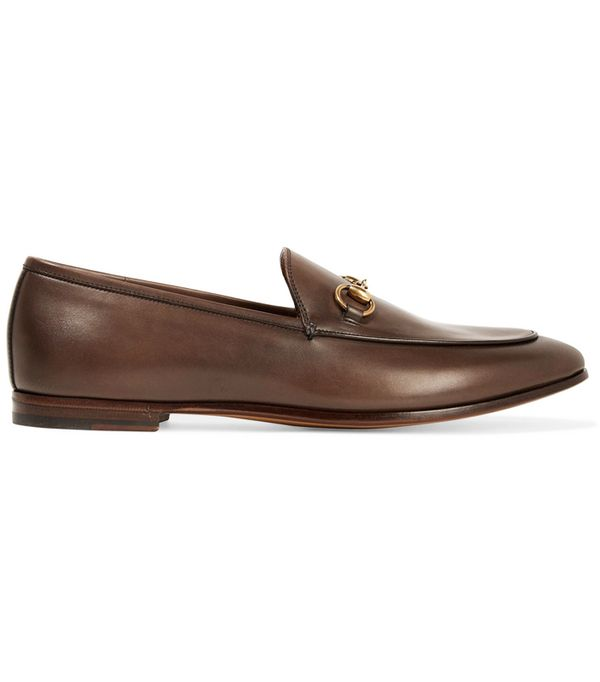male bloggers: Gucci Jordaan Horsebit-Detailed Leather Loafers
