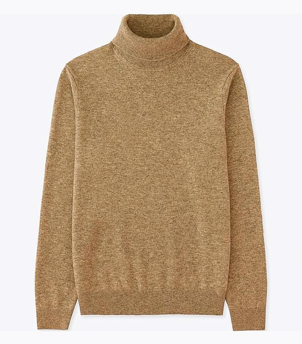male bloggers: Uniqlo Men Cashmere Turtleneck Sweater