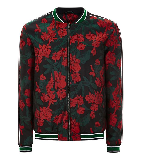 male bloggers: Topman Black And Red Floral Smart Bomber Jacket