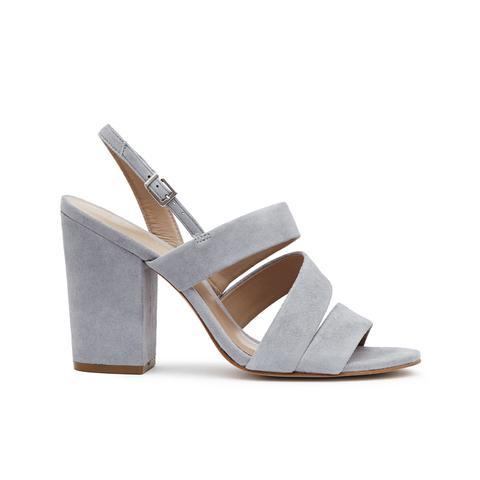 Naomi Suede Block-Heel Shoes