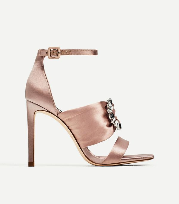 Best bridal shoes: Zara Satin High Heel Sandals