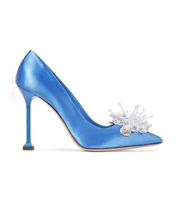 Best Bridal Shoes: Miu Miu Embellished Satin Pumps