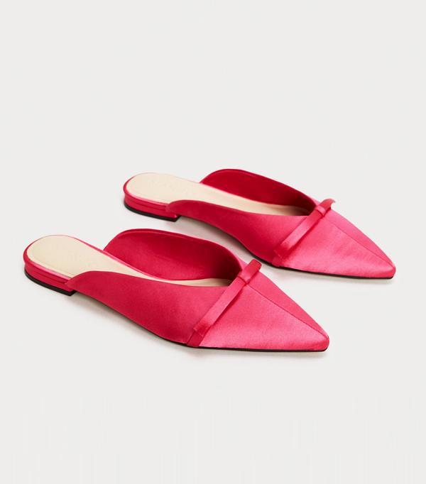 Best bridal shoes: Mango Bow Satin Mules