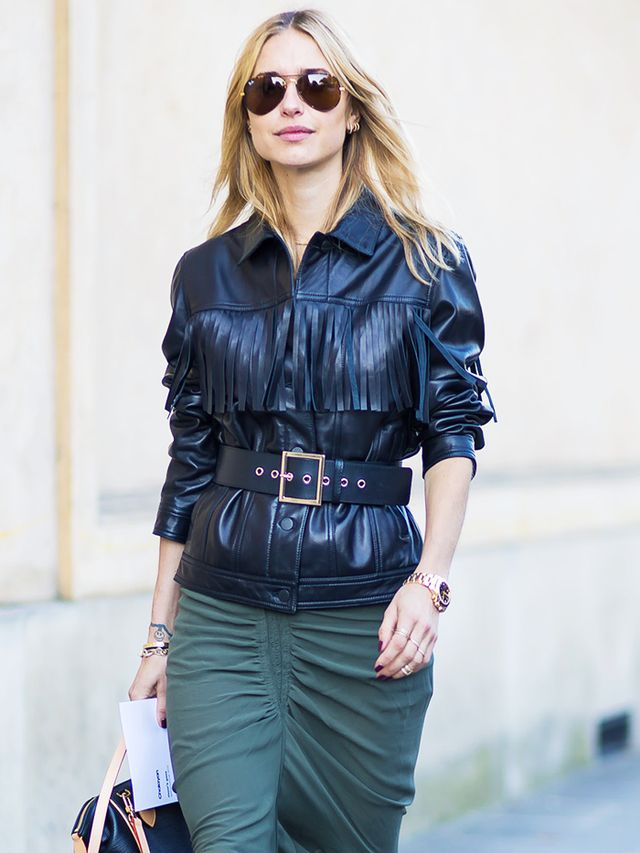 What guys like girls to wear: A leather jacket