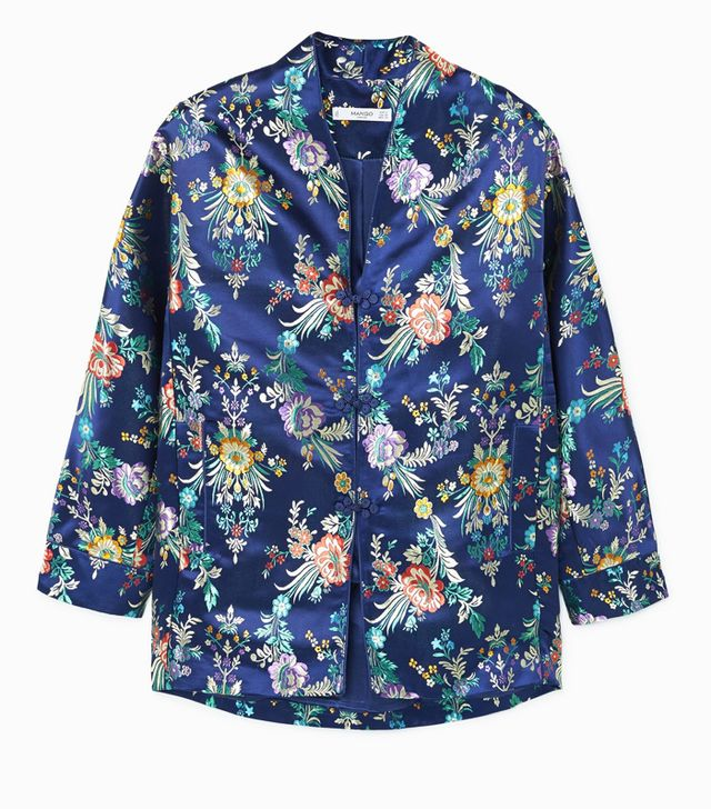 What guys like girls to wear: Mango Floral Embroidered Kimono