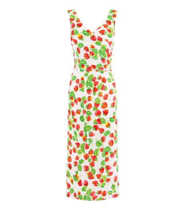 What guys like girls to wear: Warehouse Strawberry Wrap Back Dress