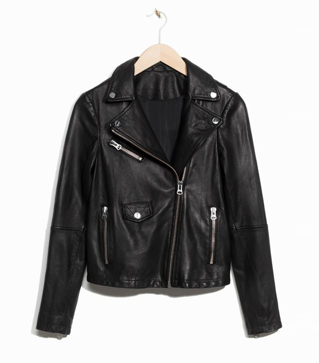 How to Wear a Leather Jacket: & Other Stories Biker Leather Jacket