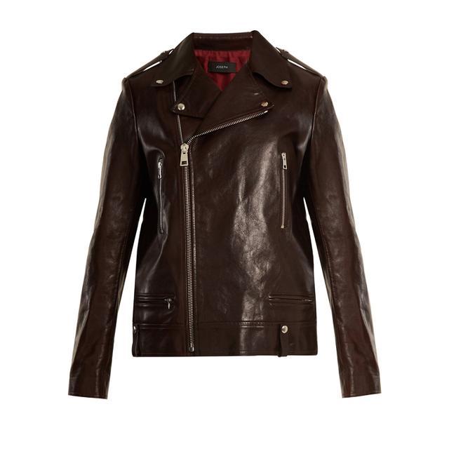 Joseph Ryder Zipped Creased-Leather Jacket