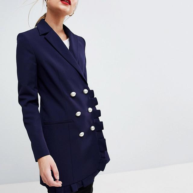 How to Wear a Blazer : ASOS Blazer With Frill
