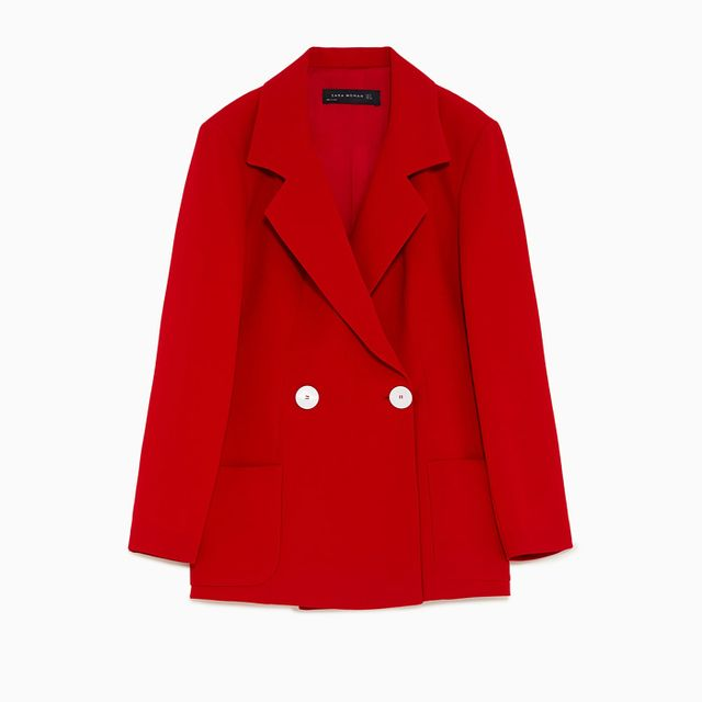 How To Wear A Blazer: Zara Double Breasted Blazer