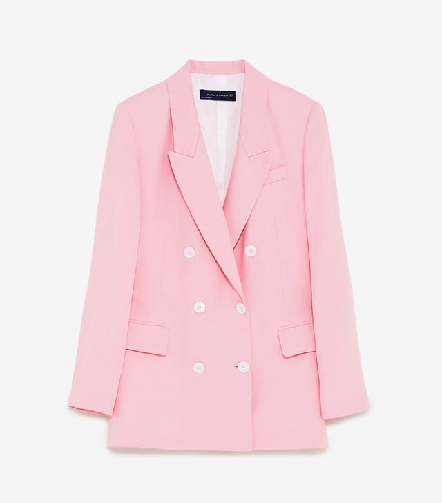 How to Wear a Blazer : Zara Double-Breasted Blazer
