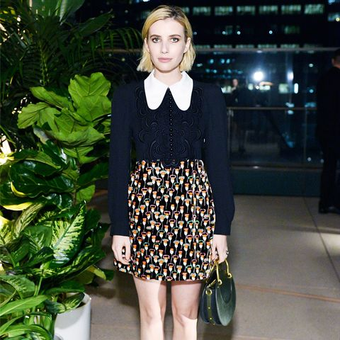 Emma Roberts Style: Chloe dress at Chloe X MOCA dinner in LA
