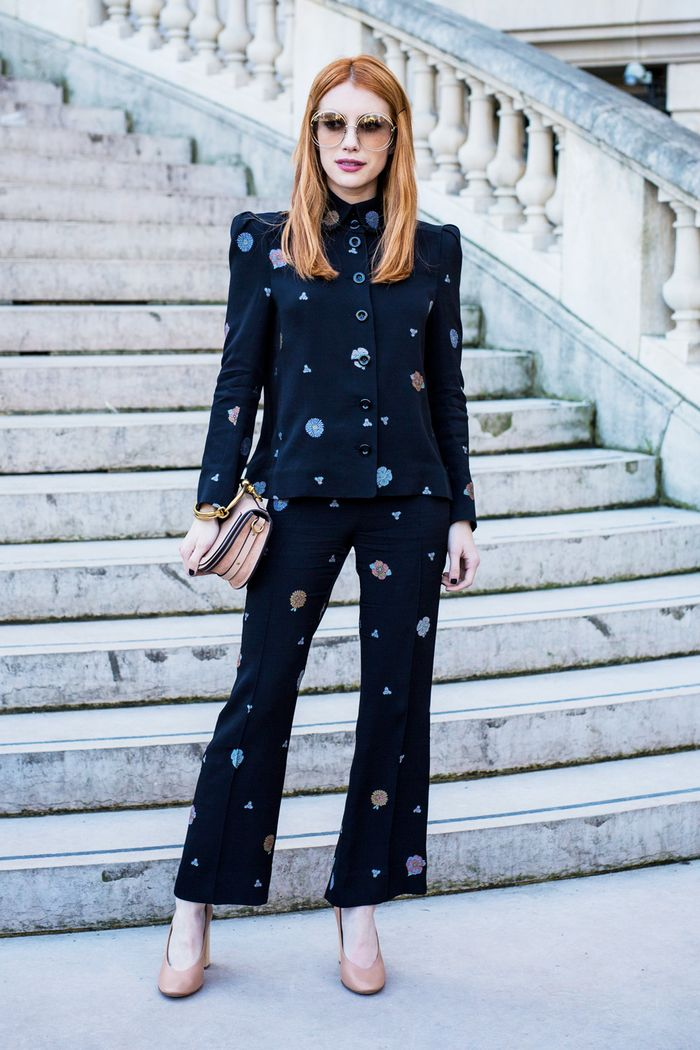Emma Roberts Style: Trouser suit