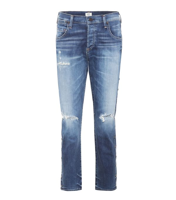 How to wear boyfriend jeans: Citizens of Humanity Emerson Slim Boyfriend Jeans