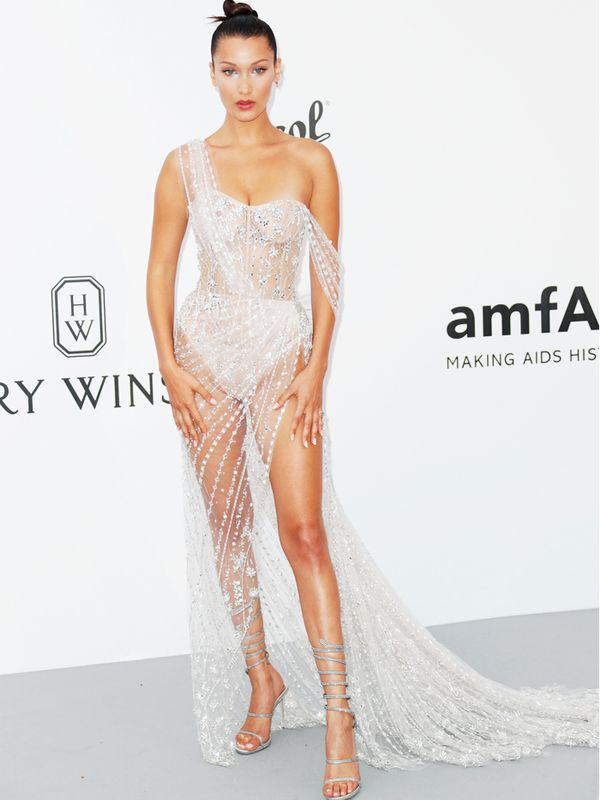 Naked Red Carpet Looks: Bella Hadid in Ralph & Russo at the Cannes Film festival