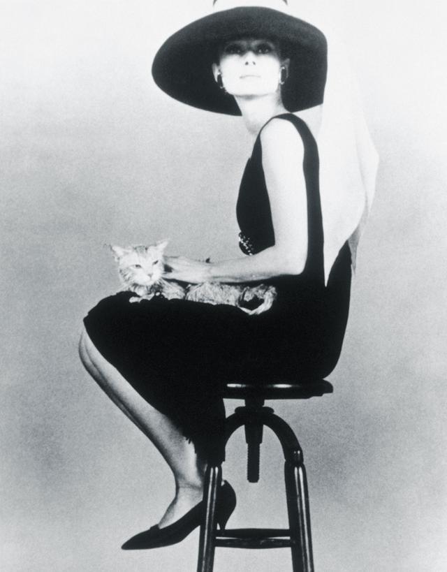 Audrey Hepburn style: Black dress