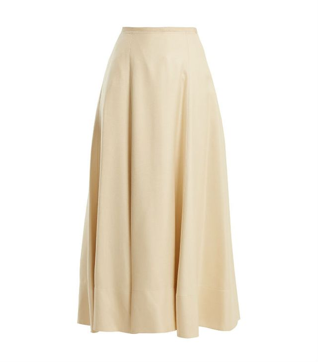 the best skirt style for your body type: Elizabeth and James Elias A-Line Midi Skirt