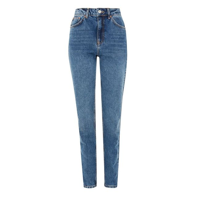 Topshop Moto Mid Blue Mom Jeans