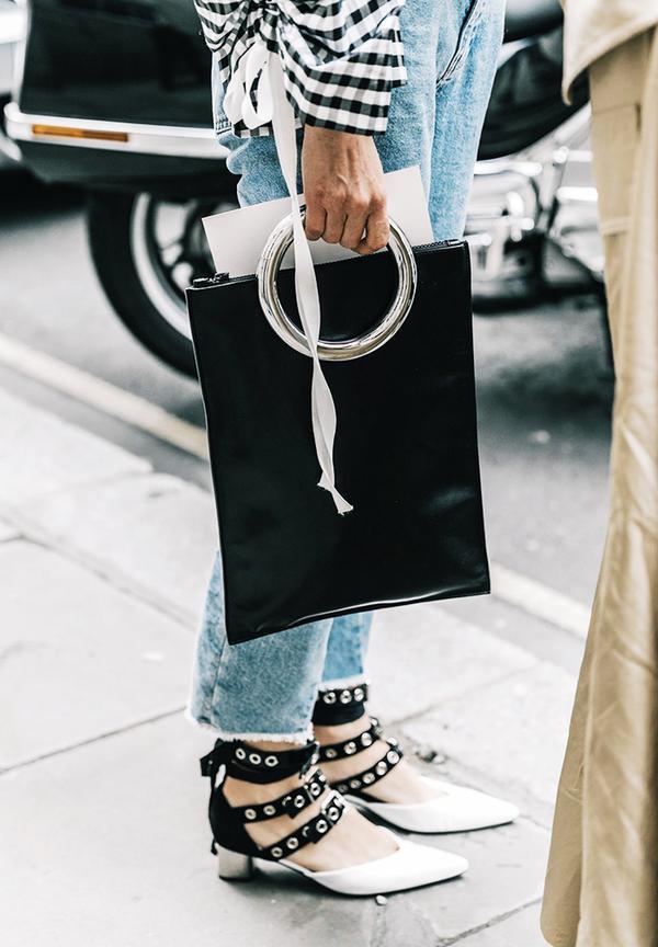 Dressing up jeans: fancy footwear