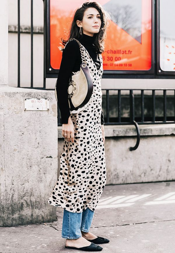 Dressing up jeans: leopard print