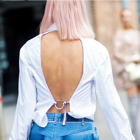 Dressing up jeans: A backless top