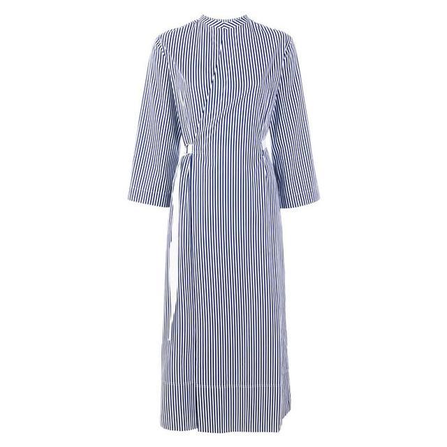 Dress Styles: Joseph Laury Striped Cotton-Popin Dress