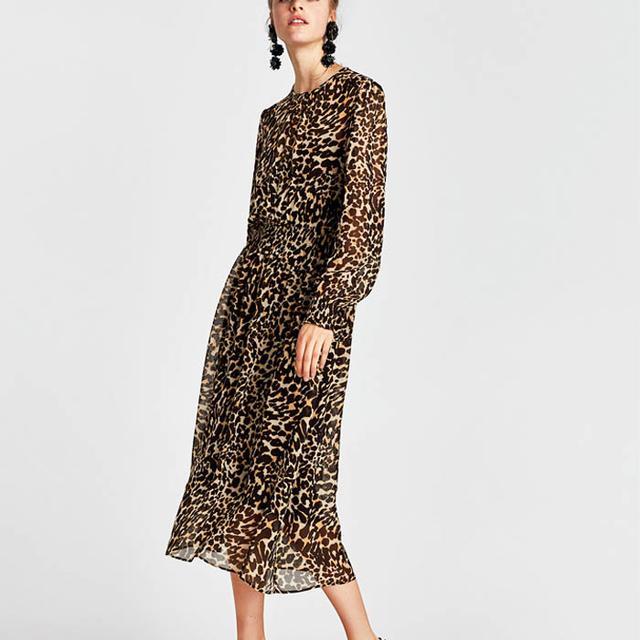 Dress Styles: Zara Animal Print Dress