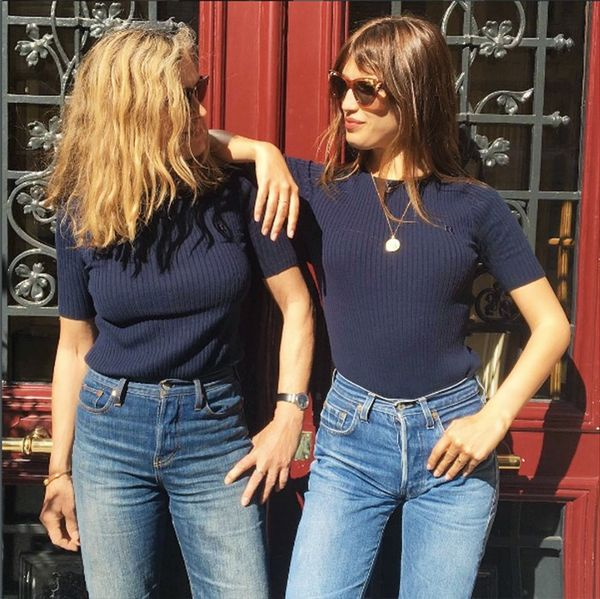 French Fashion icon Jeanne Damas and her mum