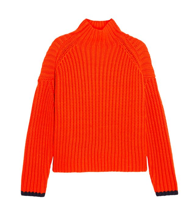 how to look smart in winter: Victoria, Victoria Beckham Ribbed Wool-Blend Turtleneck Sweater