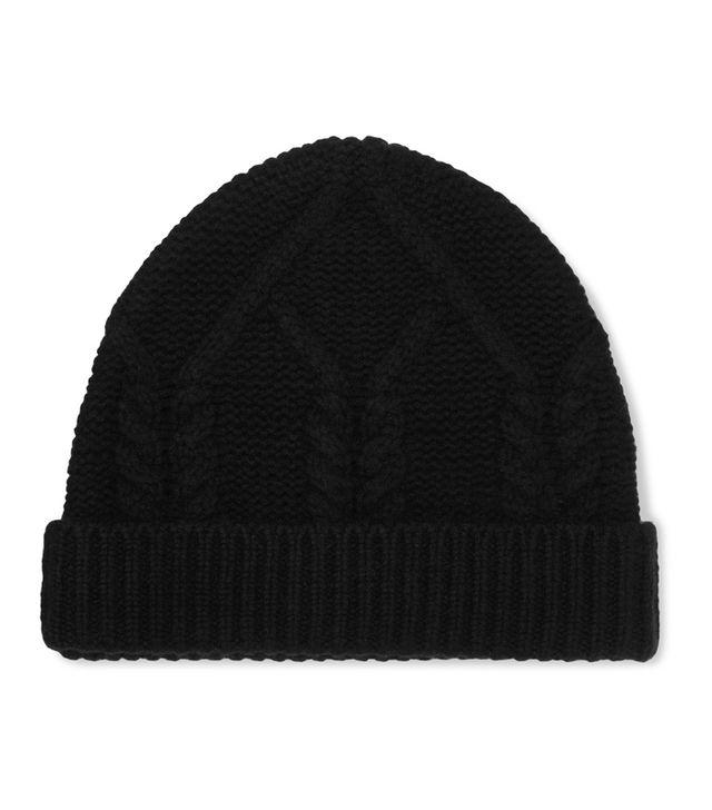 how to look smart in winter: Frame Cable-Knit Wool and Cashmere-Blend Beanie