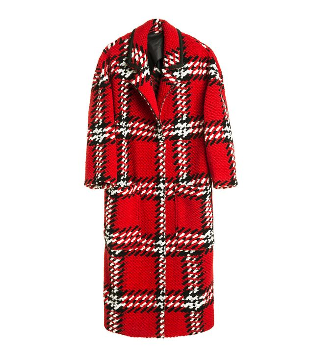 how to look smart in winter: Bimba y Lola Red Chequered Coat