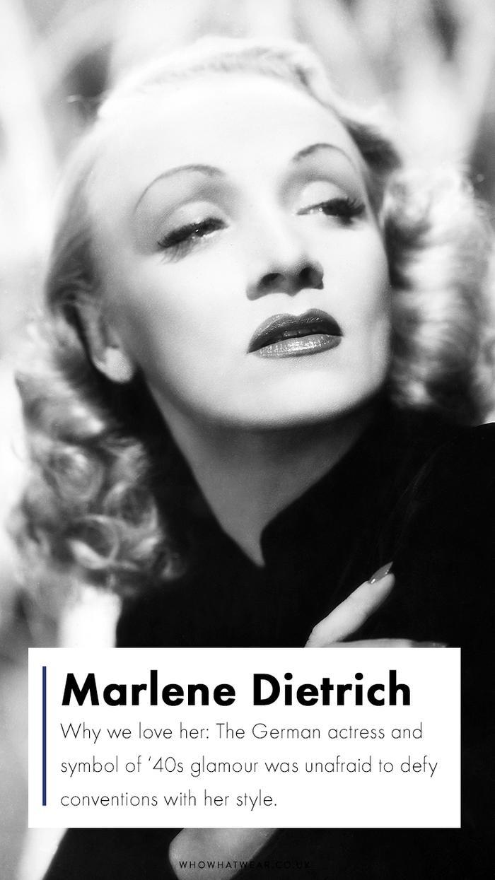 Top fashion icons: Marlene Dietrich