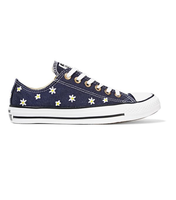 How to Wear Converse: Converse Chuck Taylor All Star Embroidered Denim Sneakers